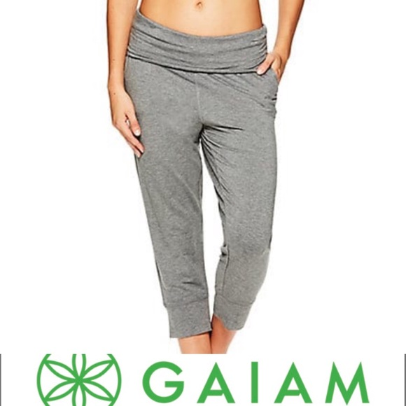 c78d6fbf67 GAIAM Pants | Gray Piper Crop Harem Sweat Large | Poshmark